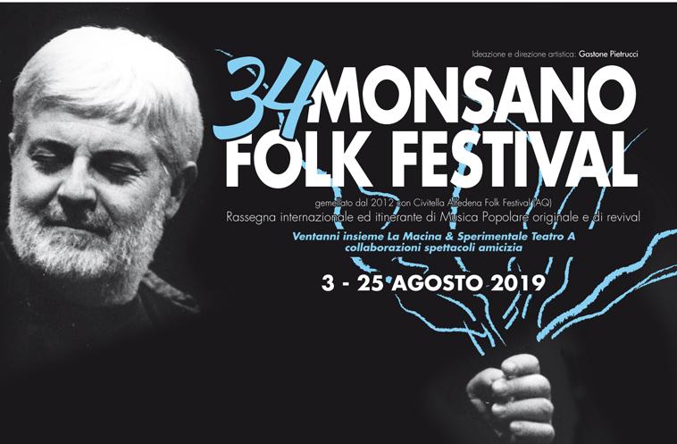 34°  MONSANO  FOLK  FESTIVAL - LARA MOLINO in LA TERRA E' DI CHI LA CANTA